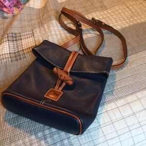Dooney and Bourke Navy Leather Crossbody